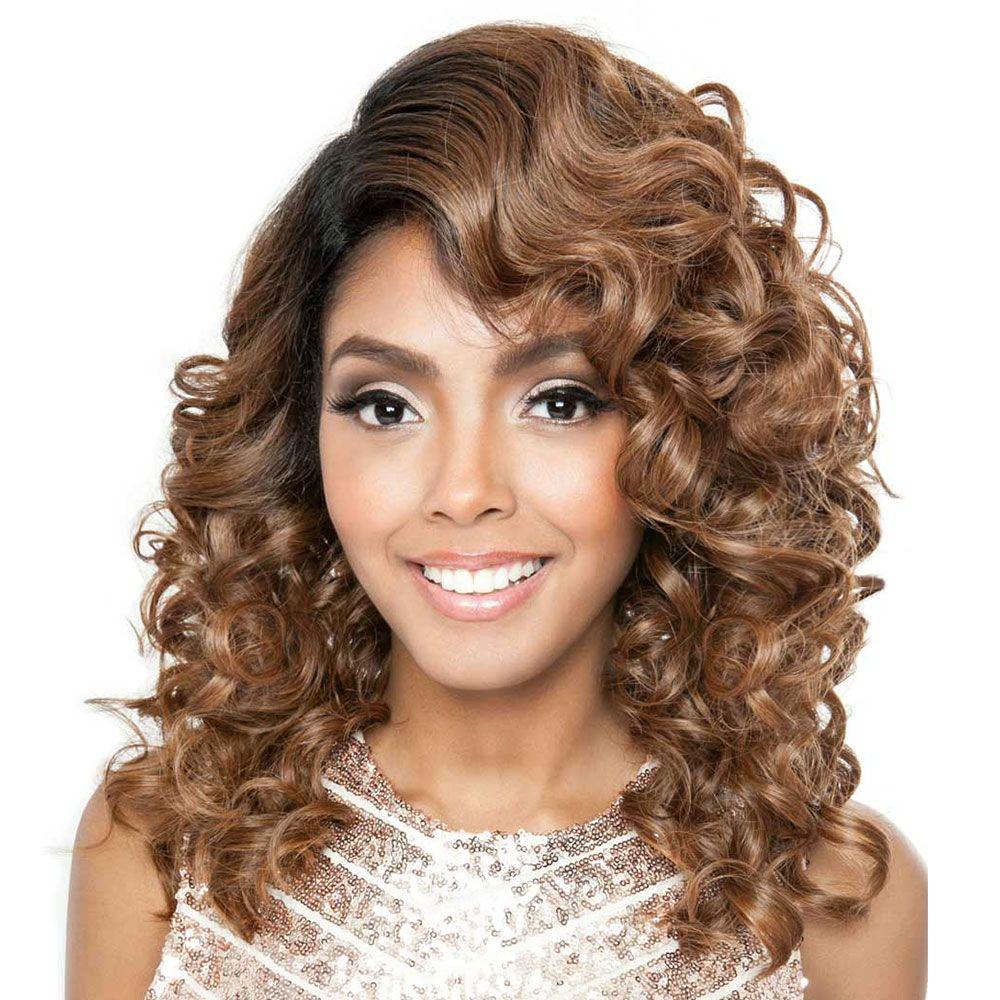 BSF07 Lace Front Spiral Curled Wig by Brown Sugar