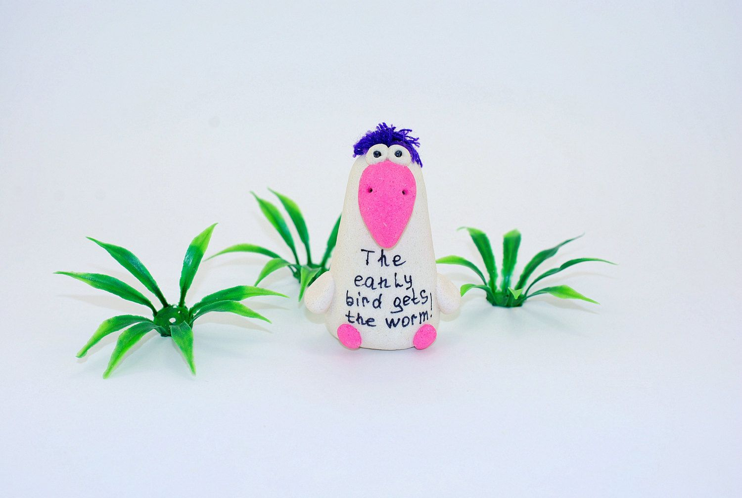 The early bird gets the worm! Birthday gift, Whimsical gifts, Fun gift, Funny Good Luck, Congratulations Gift. by syvenir3dnru on Etsy