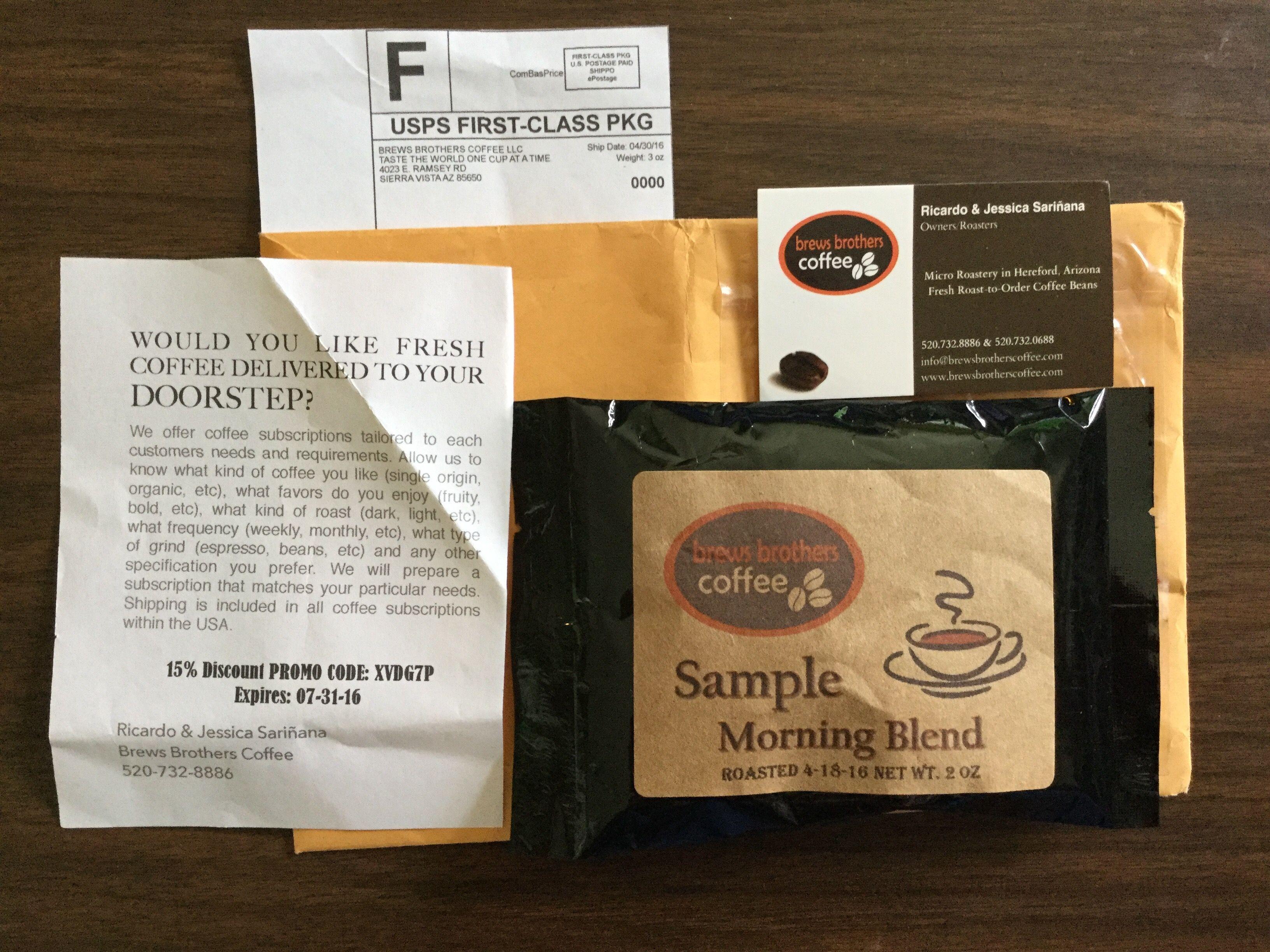 Free brews brothers coffee sample coffee samples coffee