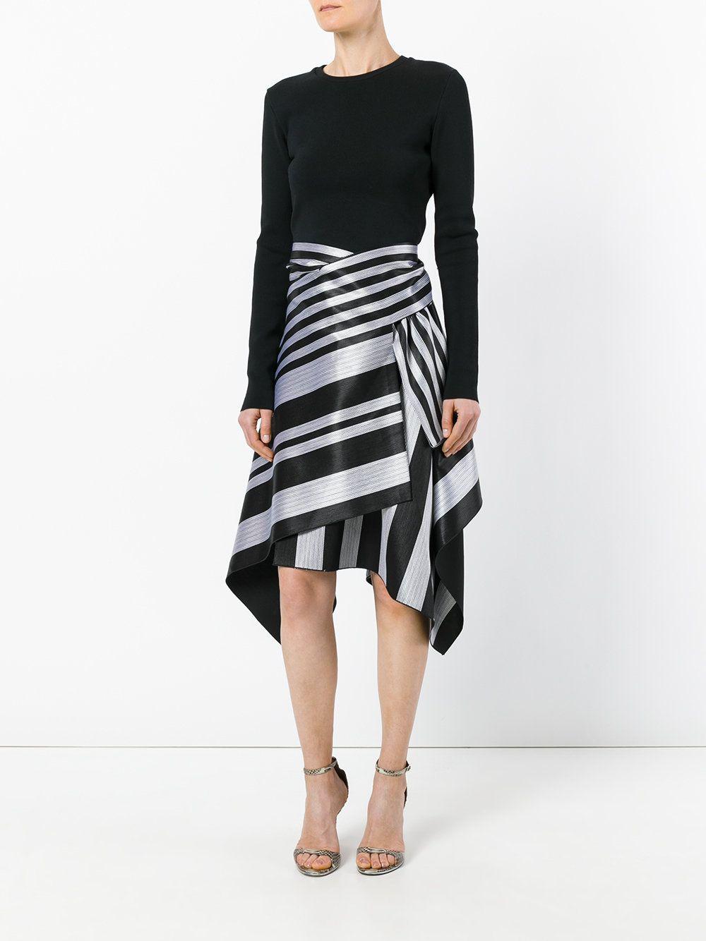 53145f0a60 Proenza Schouler falda asimétrica a rayas Falda Asimétrica