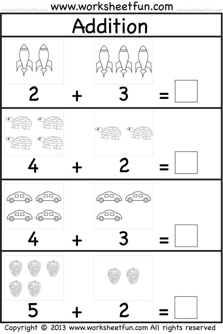 Kindergarten Math Worksheets PDF | Kindergarten addition ...