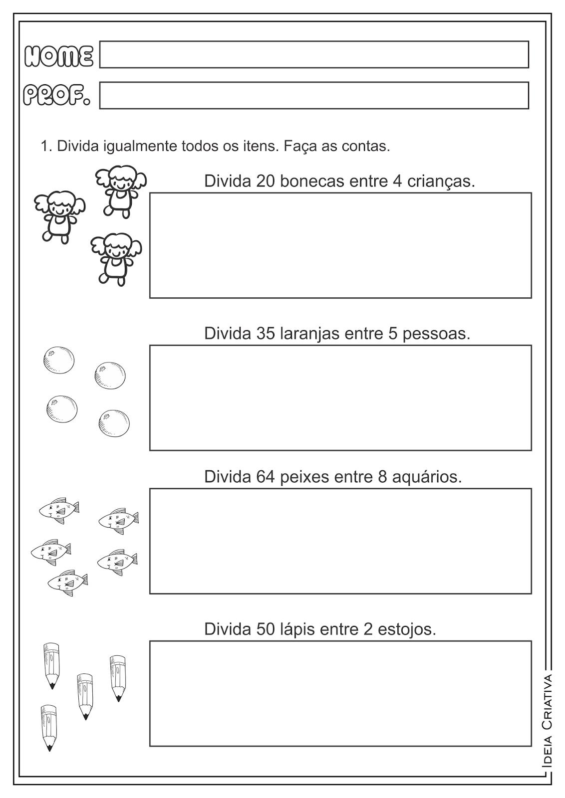 Ensino Fundamental Atividades E Projetos Educacionais Atividades Mat Atividades De Matematica 3ano Exercicios De Matematica Fichas De Exercicios De Matematica