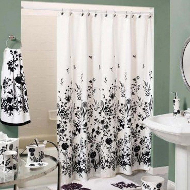Cool Black And White Shower Curtains Design Black Shower Curtains White Shower Curtain Bathroom Cool Shower Curtains