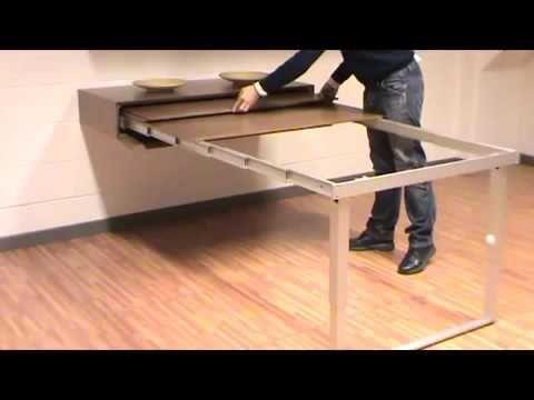 tavolo estraibile da cassetto sospeso