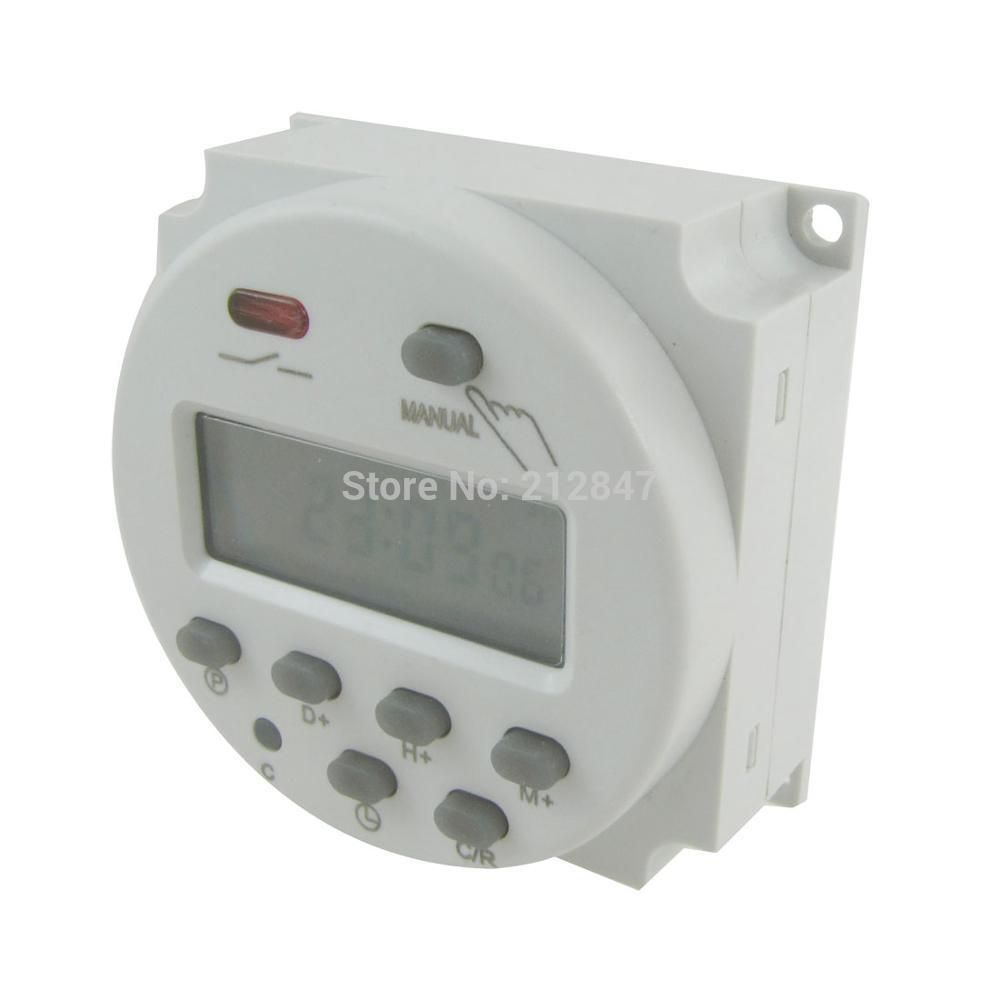 Dc 12v Digital Lcd Power Programmable Timer Time Switch Relay 16a Us 13 29 Timer Power Saver Lcd