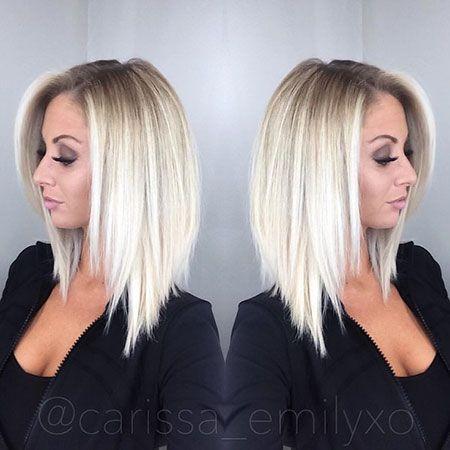 30 Popular Short Blonde Hairstyles Frisuren Lange Bob Frisuren Modische Frisuren