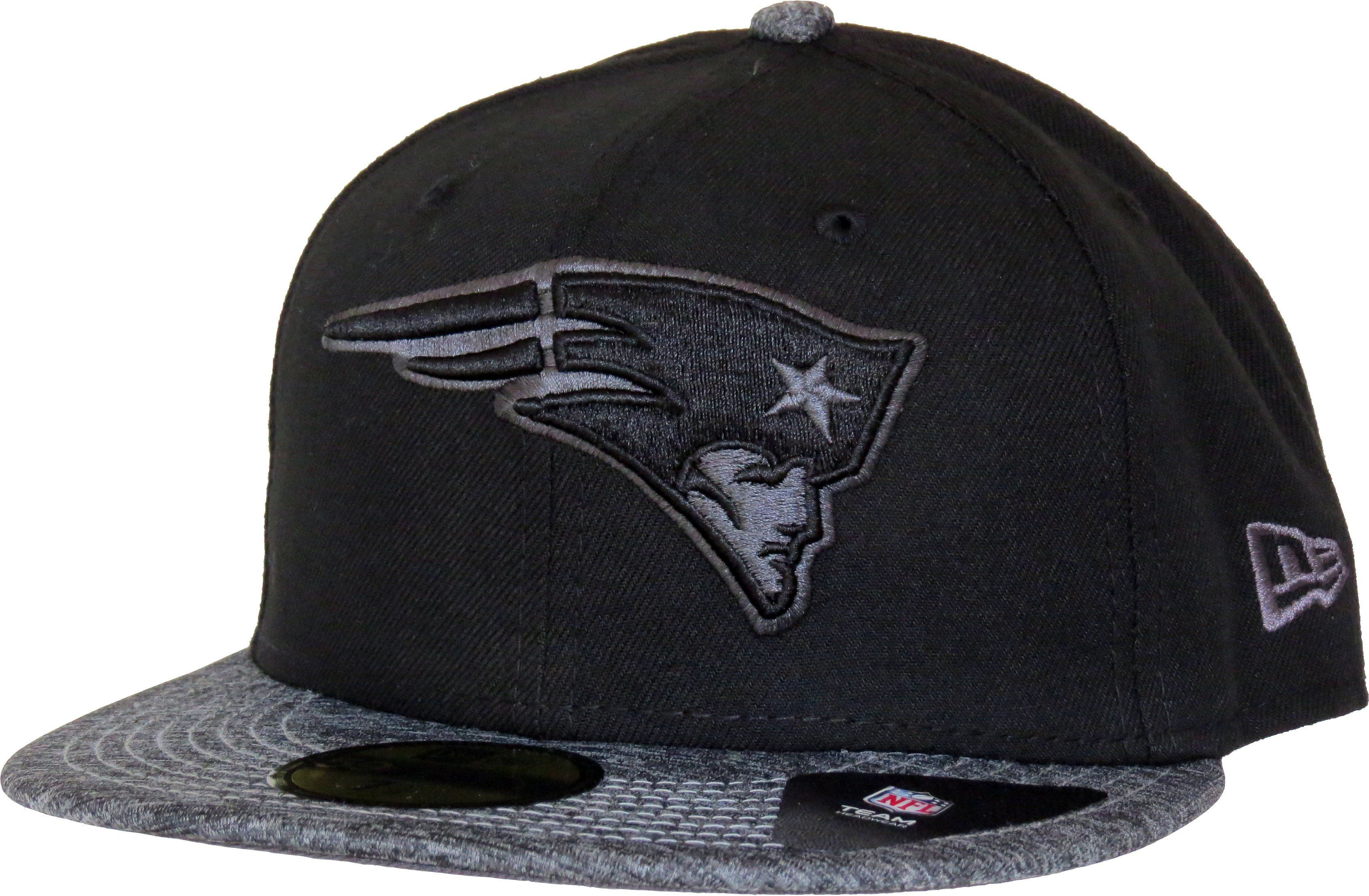 ca5e2df6a New Era 59Fifty NFL Grey Collection Fitted Team Cap. Black with the New  England Patriots