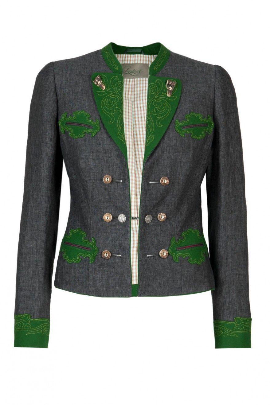 Landgraf Trachtenjacke Gamsfrackl Leinen grau Trachteria Landgraf, Folk  Fashion, What To Wear, Blazer 70ab6f4c5a