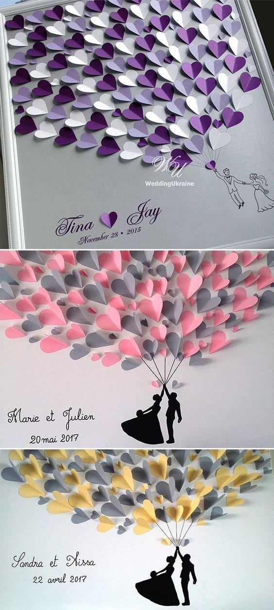 Photo of Corazón creativo invitado signo ideas alternativa boda libro de visitas – vestido de novia