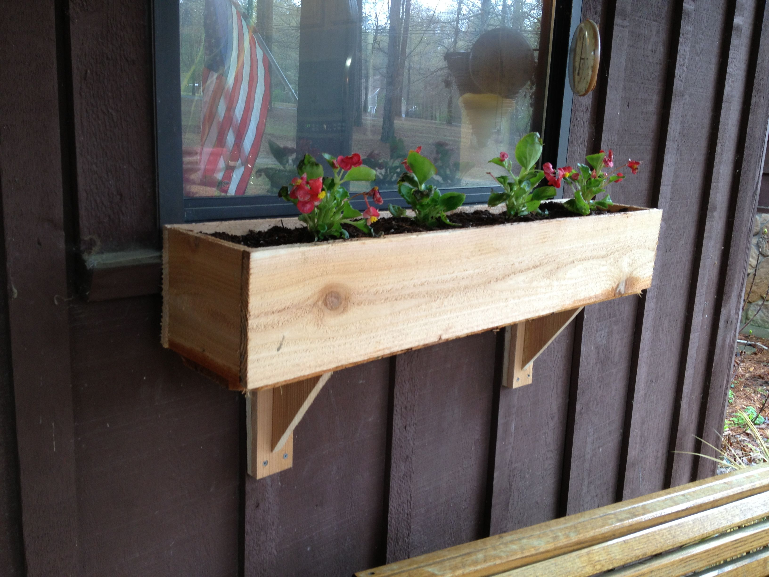 Diy Window Flower Box And Supports For Under 5 2 Hours Made Out