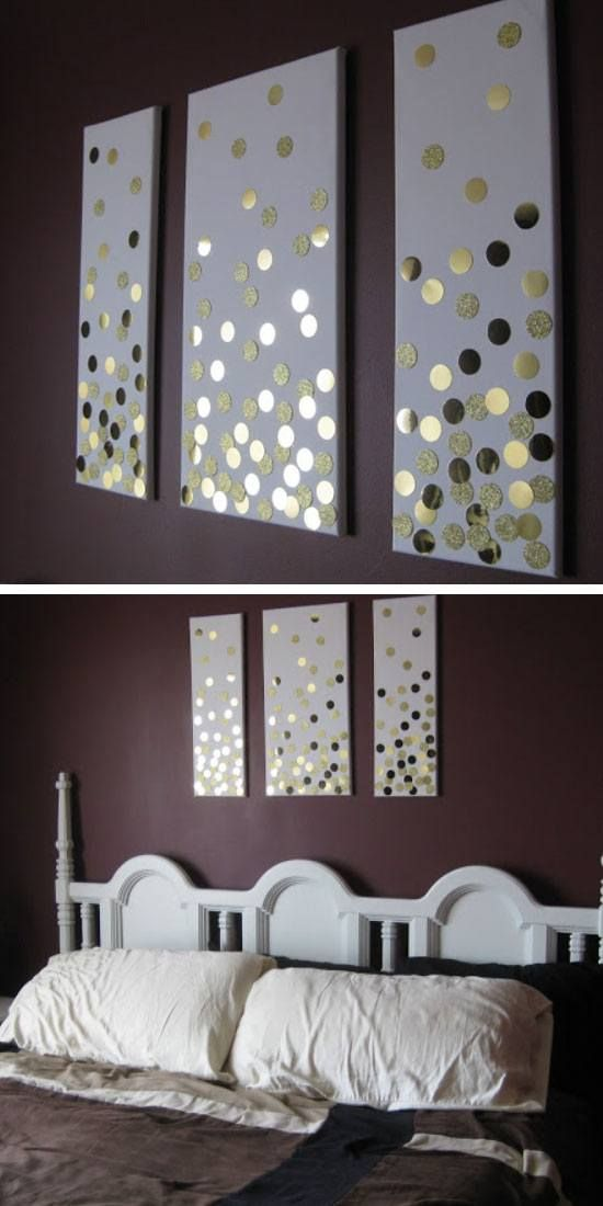 DIY Canvas Wall Art (Using Hole Punch And Gold Card) | Click Pic For