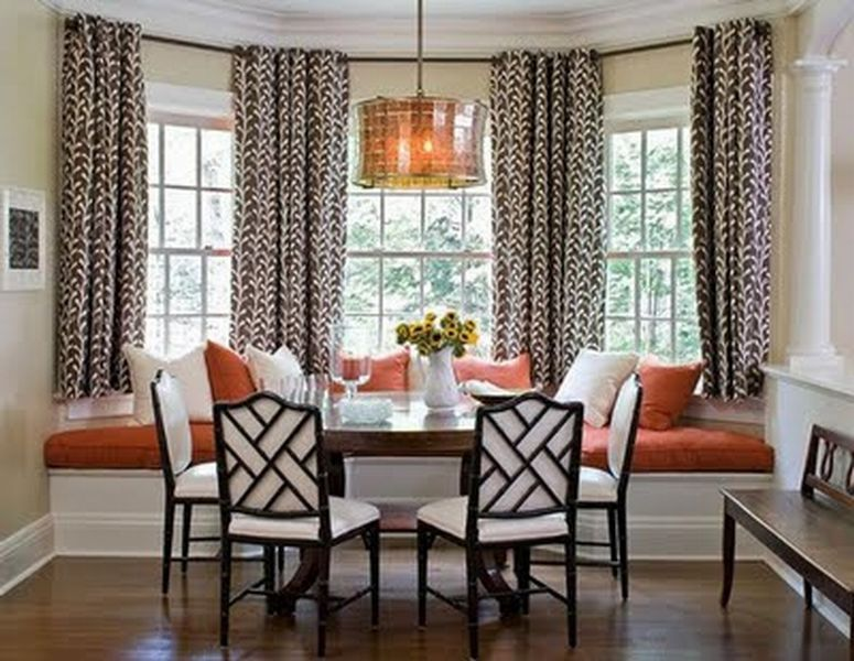 Bay Window Curtains Decor  Kitchens  Pinterest  Bay Window Gorgeous Bay Window Ideas Living Room Decor Design Inspiration