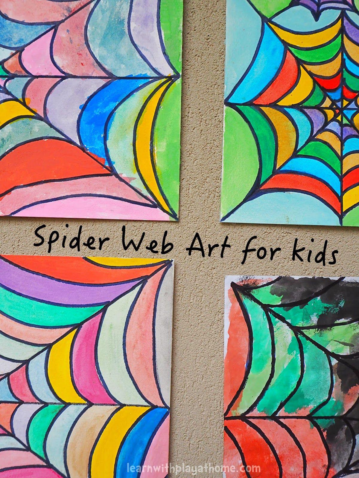 Spider Web Art for Kids | Aula de arte, Actividades y Actividades ...