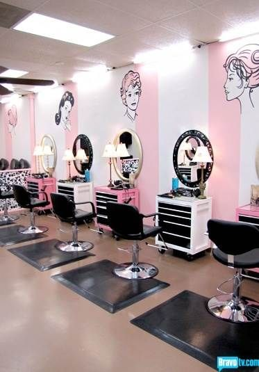 pink beauty salon te office branding