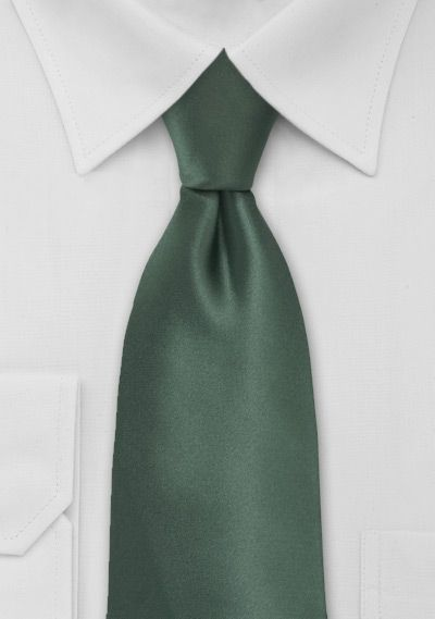 Solid Color Tie in Pine Green - ties shop - yellow/green