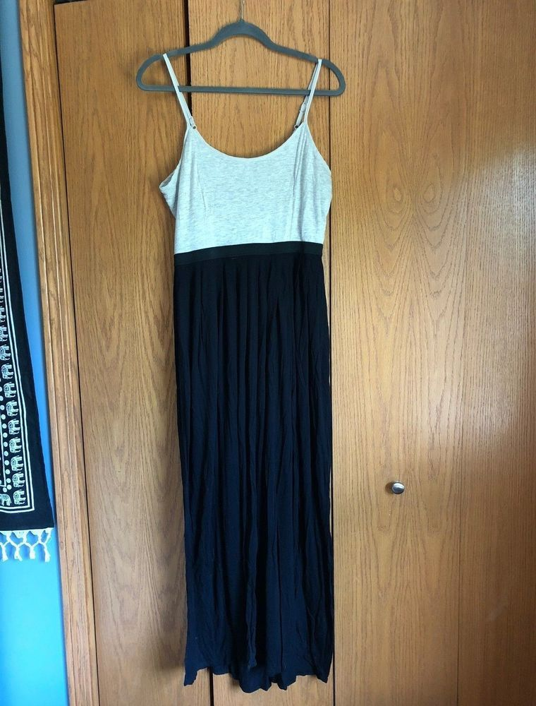 2df9f0c3153 Women s LC Lauren Conrad Gray Black Color Block Maxi Dress Size L  fashion   clothing  shoes  accessories  womensclothing  dresses (ebay link)