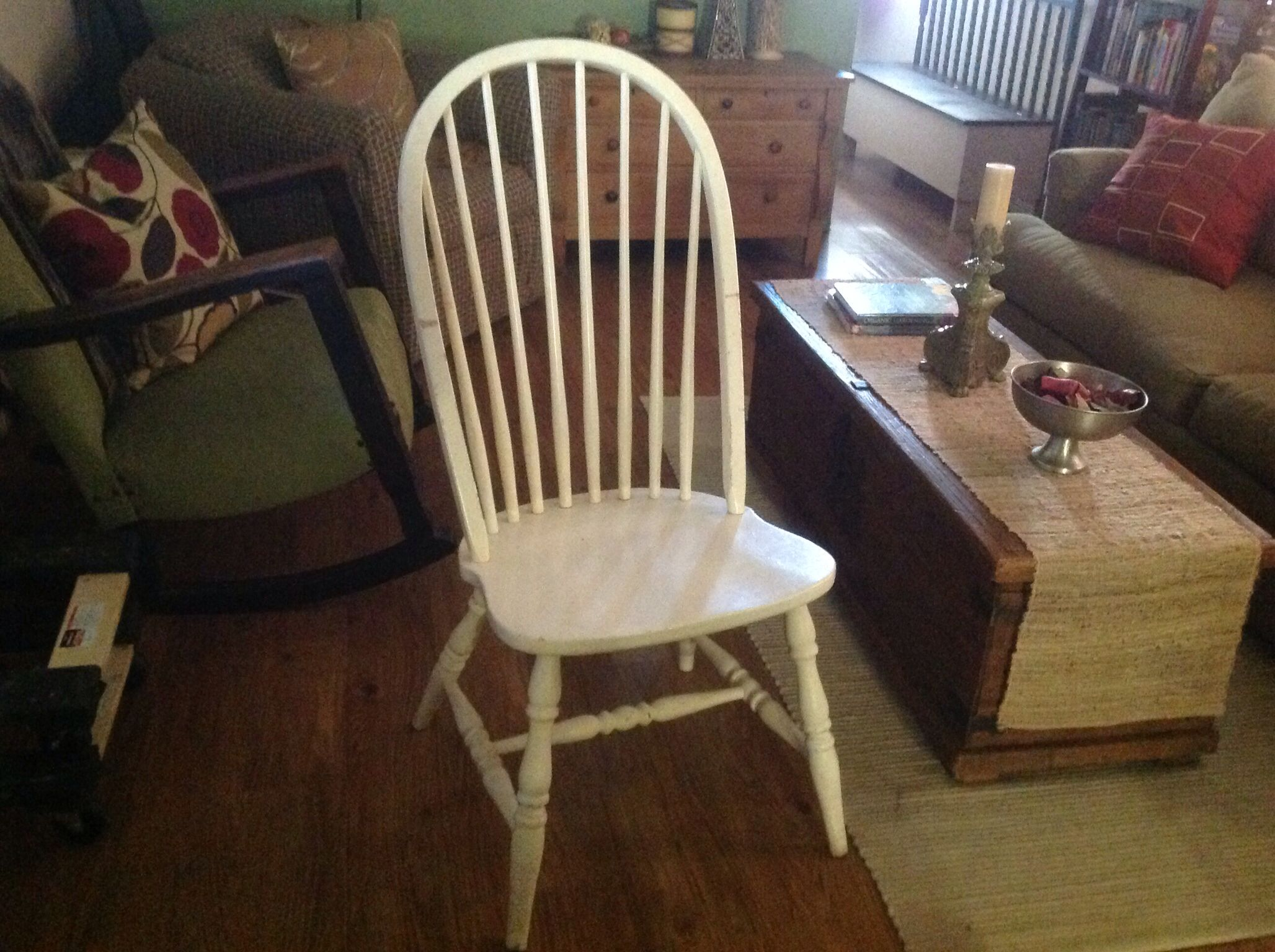 lovely #vintage windsor chair i found at a garage sale in