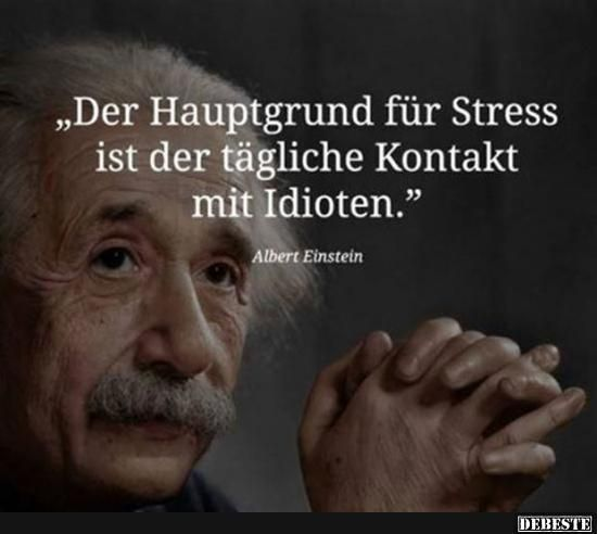 The main reason for stress is the daily contact with idiots.