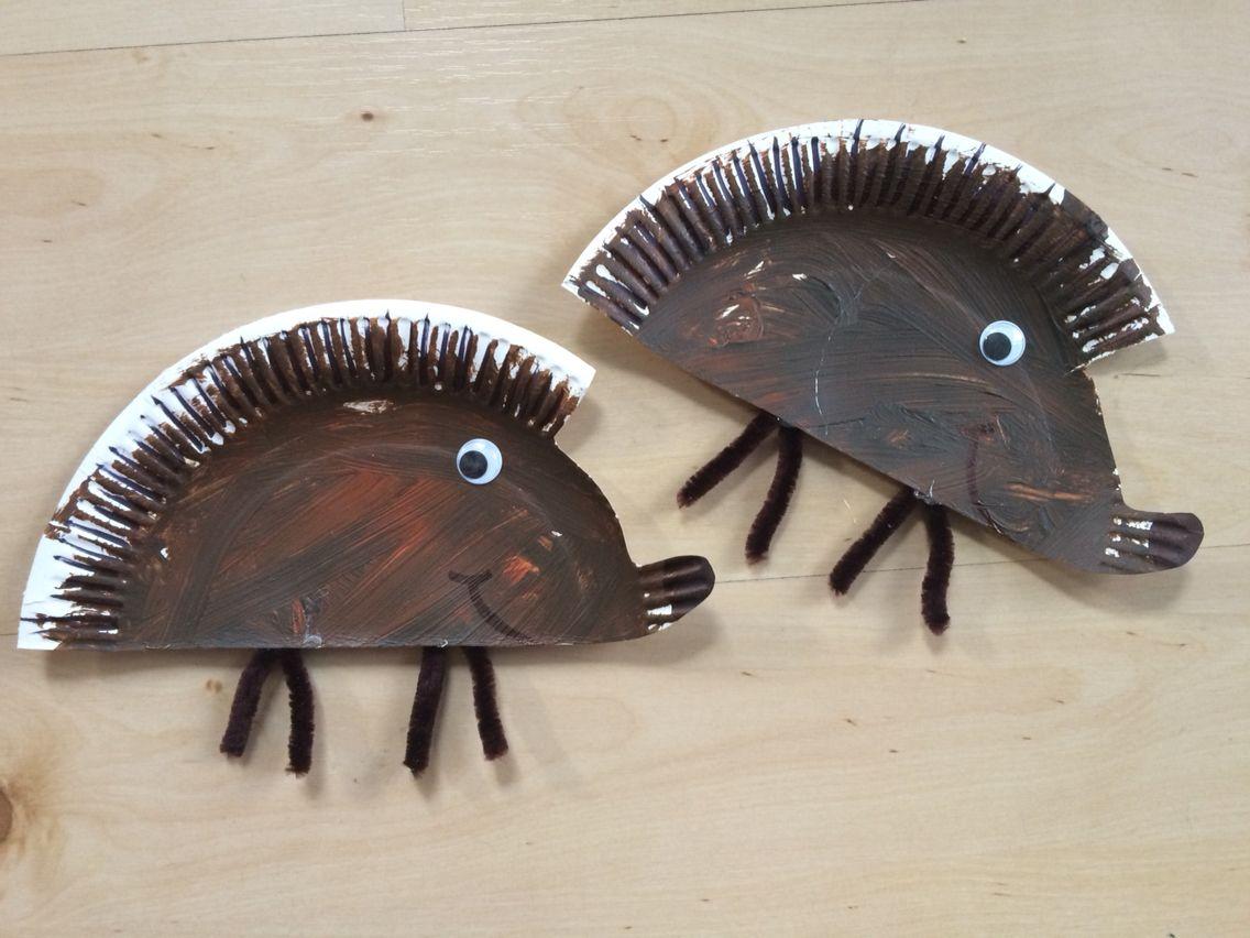 Igel aus Pappteller   Herbstbasteln mit Kleinkindern   Pinterest