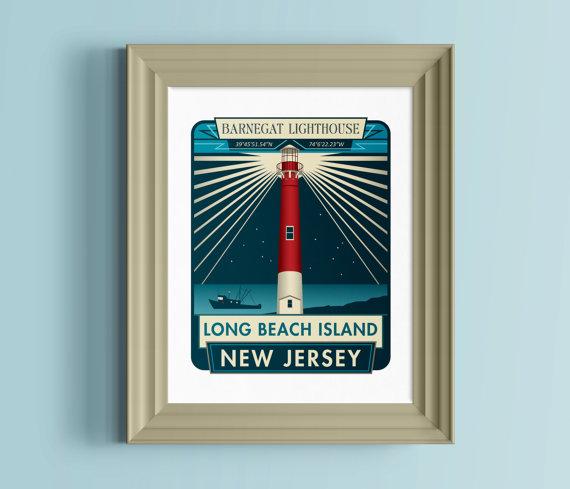 Long Beach Island New Jersey: New Jersey Wall Art