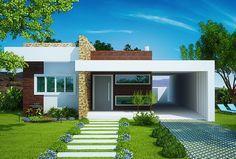 Projetos de casas modernas e baratas Casas modernas De campo y Casas