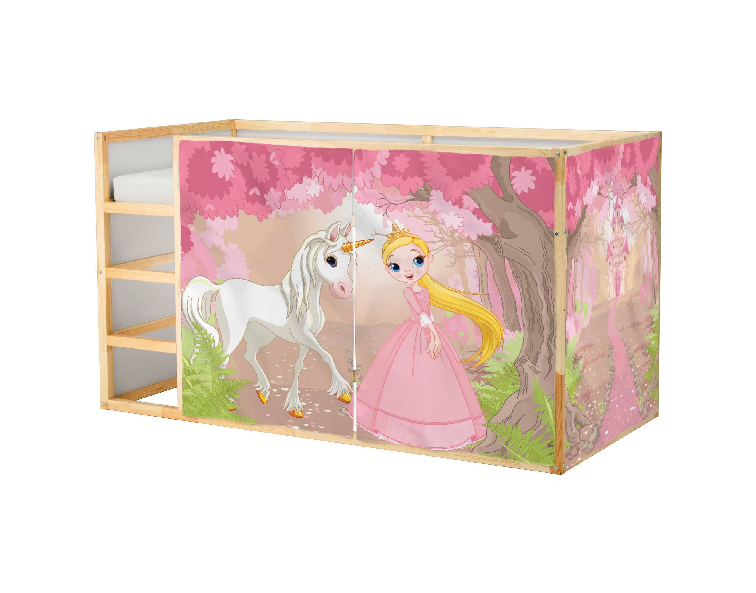 Playhouse Ikea Kura Bed Princess Playhouse Curtains Loft Bed Kura