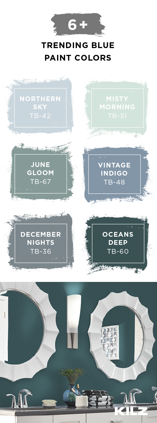 This Trending Blue Paint Color Palette From Kilz Has The Perfect