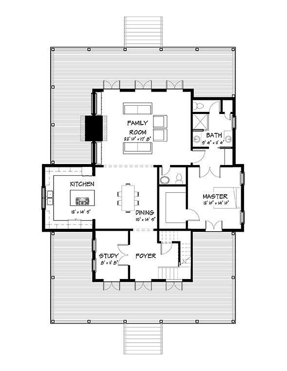 Coastal home plans nellie creek cottage ranch remodel for Coastal ranch house plans