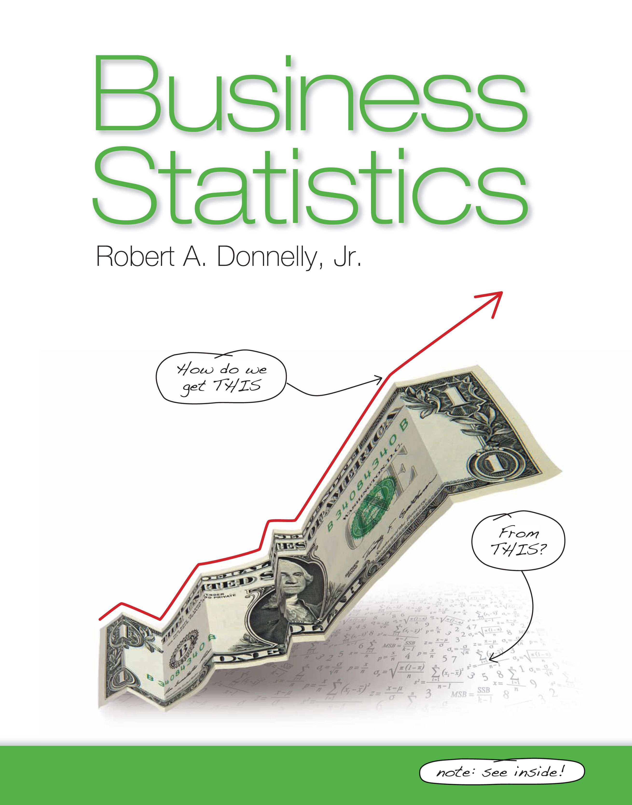 Donnelly, Business Statistics cover