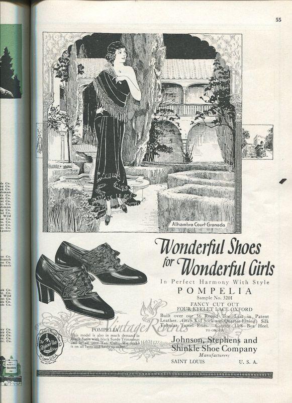 #highheels #shoes #oldad #stl #stlouis #1920s #oldads #history #orientalinspired #illustration #fashionhistory #shoes #shoehistory