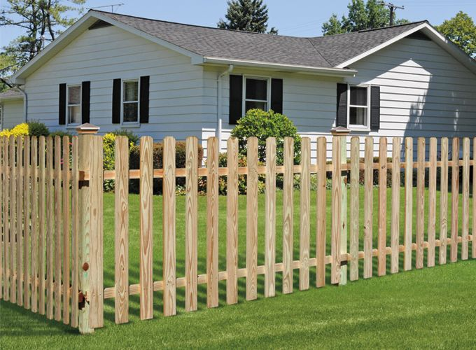 Universal Forest Products Spaced Picket Wood Fence Styles Wood