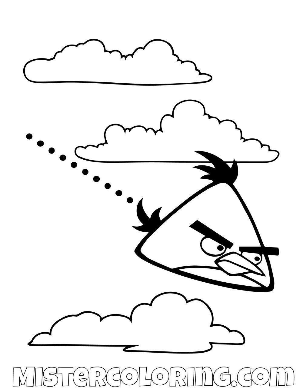 Chuck Flying Angry Birds Coloring Pages Bird Coloring Pages Coloring Pages Emoji Tattoo