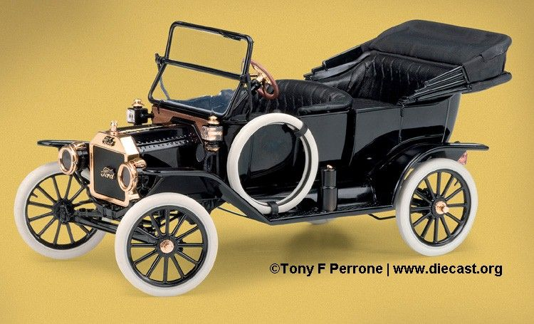 1913 Overland Touring Car Franklin Mint 1913 Ford Model T