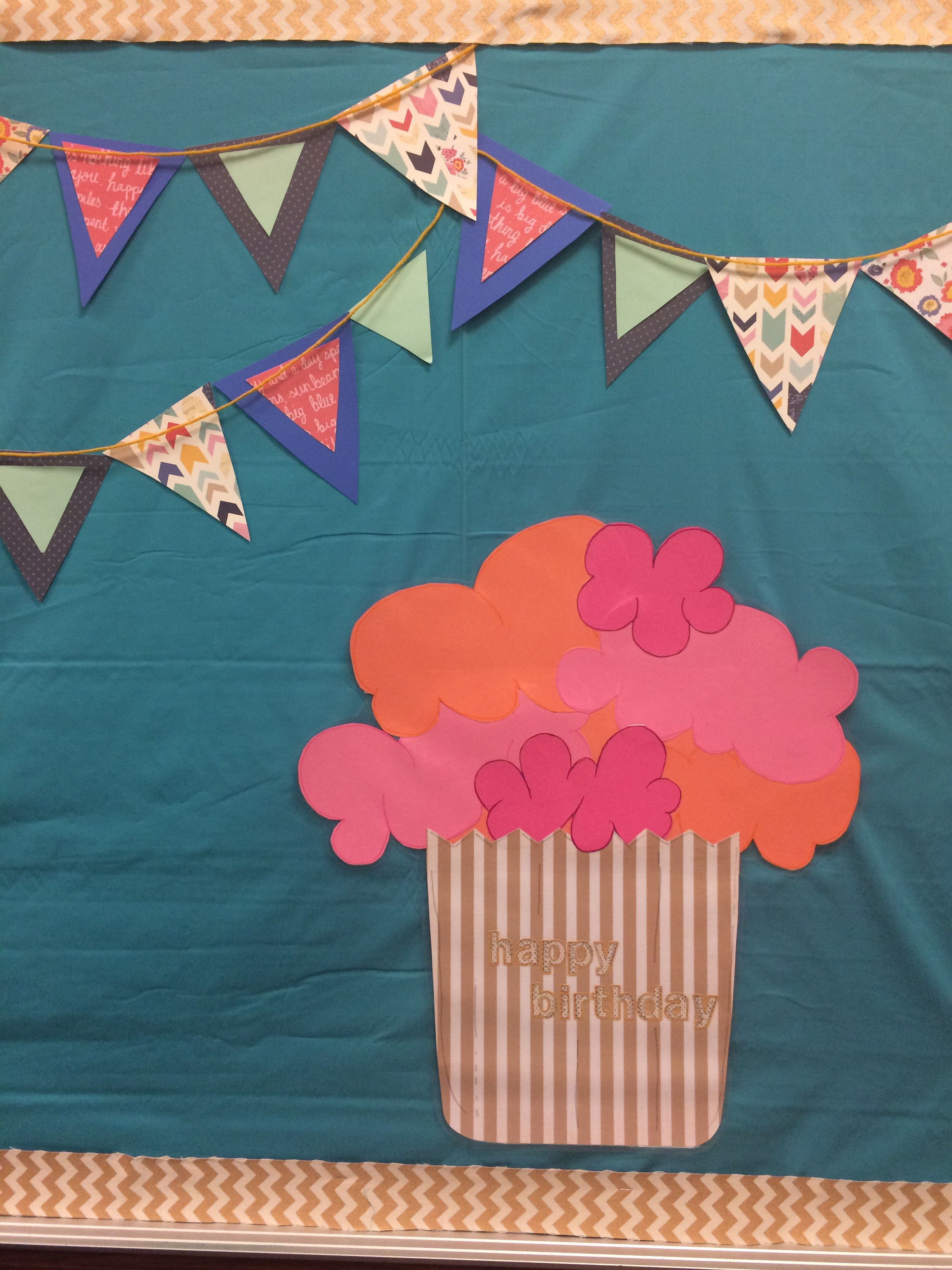 Lds Primary Birthday Bulletin Board Cupcake For The