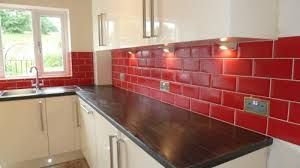 Red And Cream Kitchen Google Search Kitchen Color Red Red Kitchen Tiles Farmhouse Kitchen Colors