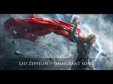 Led Zeppelin Immigrant Song Thor Ragnarok Soundtrack Trailer Music The Dark World Marvel Thor Thor