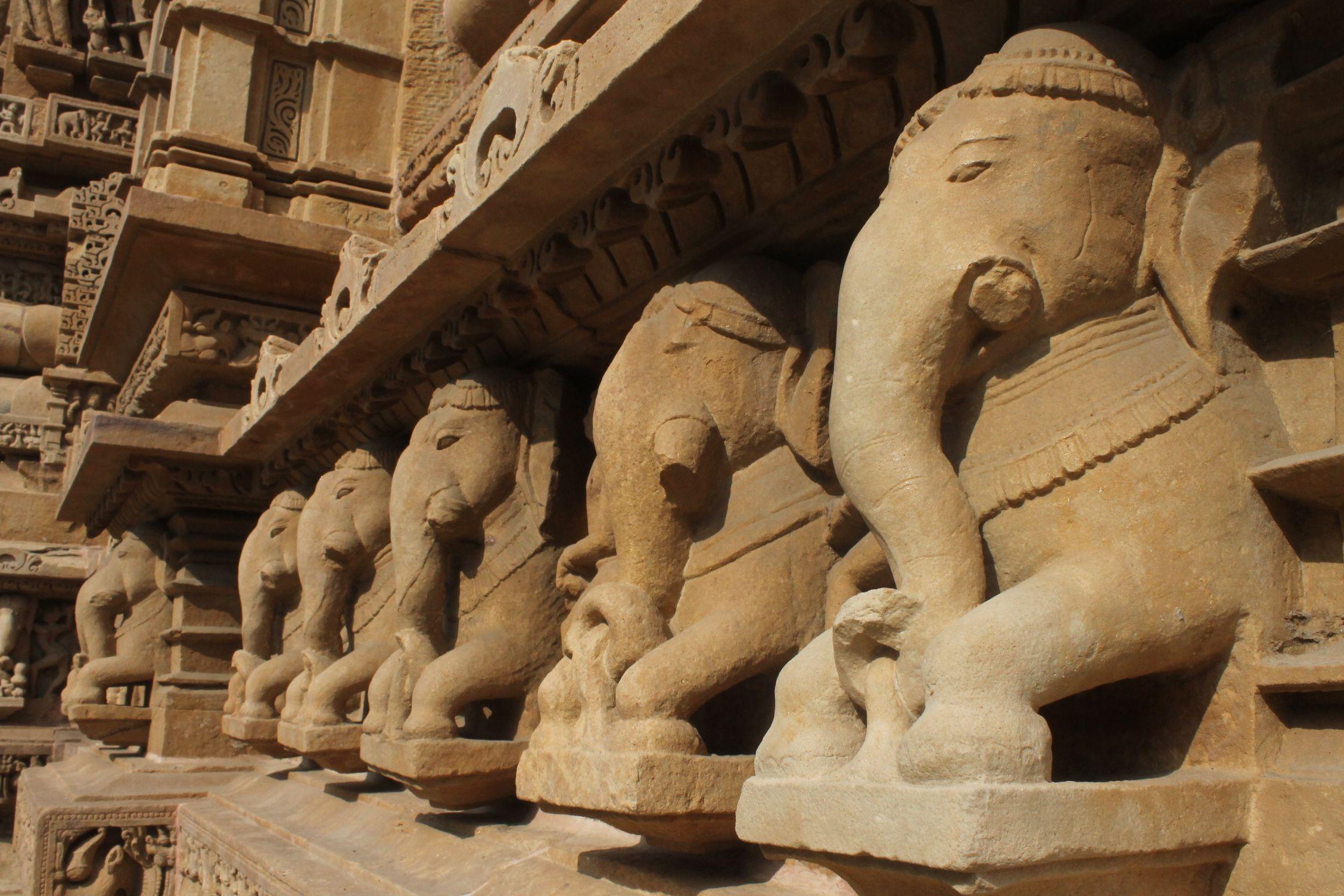 Decoración exterior de los templos
