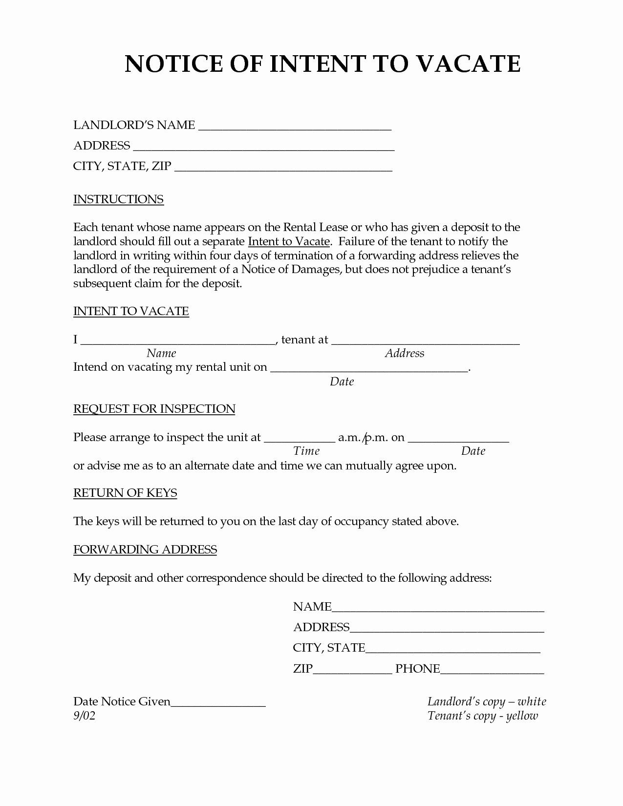 Browse Our Sample Of Letter Of Intent To Vacate Apartment Template Being A Landlord Moving Out Lettering