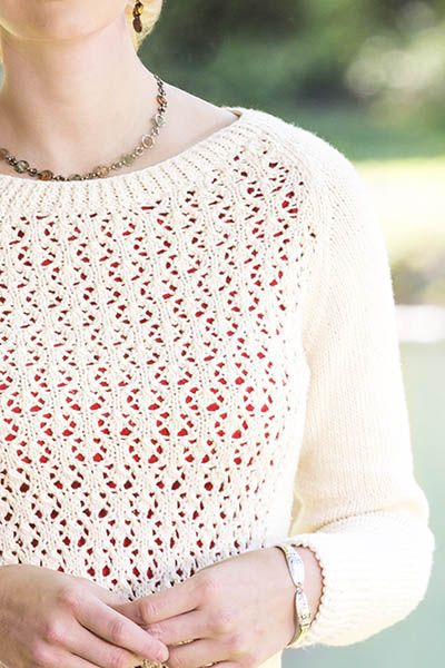 Free Knitting Pattern for a Fleurette Lace Pullover | Free Knitting ...