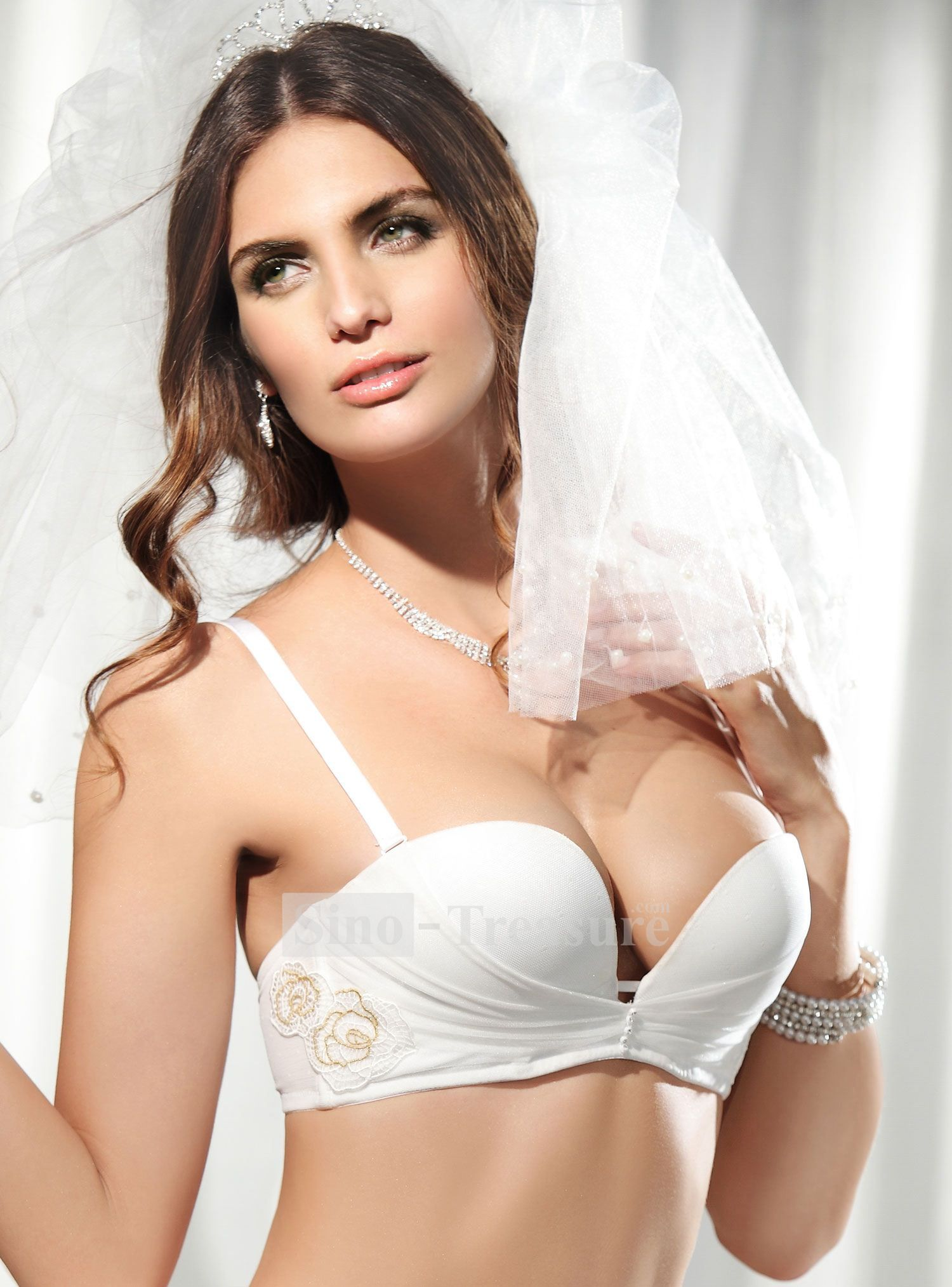 fbd104c490bb5 Elegant Basic A Demi-cup Thick Cup Evening Series Women s Bras  49.99