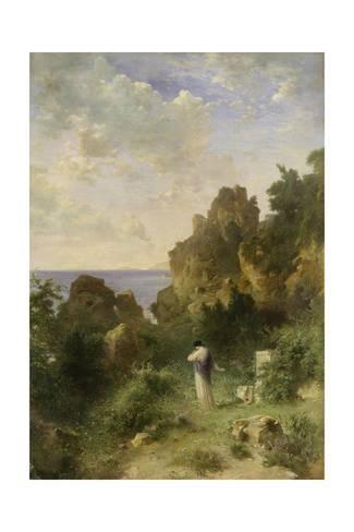 Giclee Print: Sappho, Ca, 1870 by Karl Heinrich Dreber : 24x16in