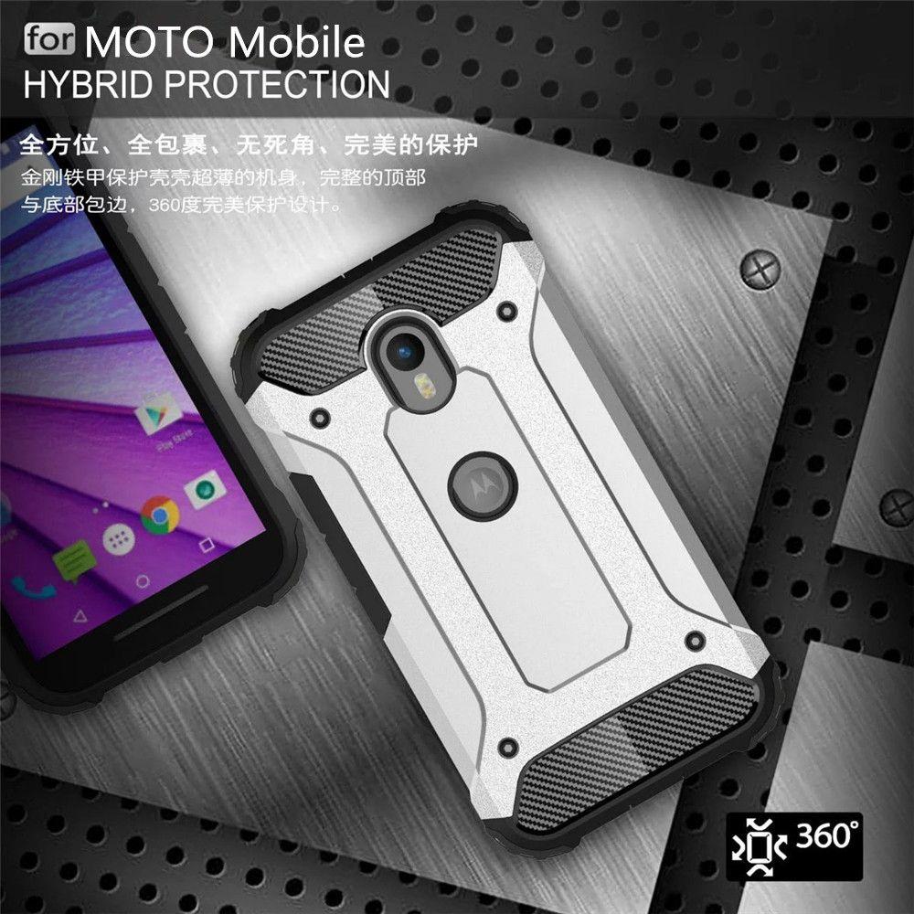 New For Motorola Moto G3 G4 G4 Plus G4 Play Moto G 3 G 4 Slim Armor Anti-Shock Silicone Hybrid Hard PC Phone Case Cover