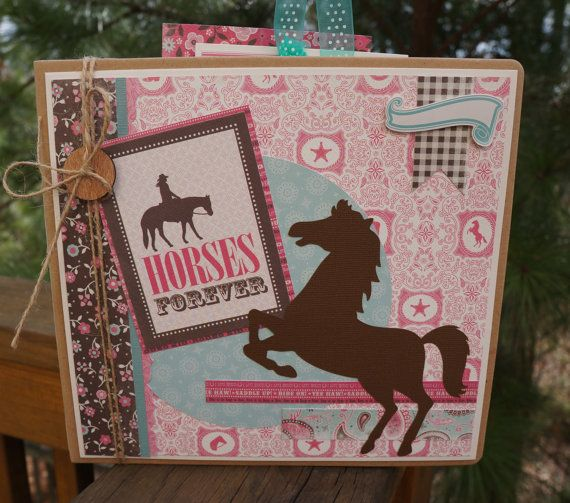 8x8 Horse Album Kit Or Premade Scrapbook Pre Cut With Instructions