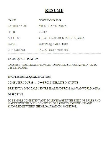 biodata format for student free download Sample Template Excellent - how to format a resume in word