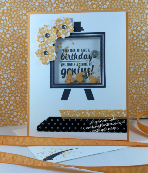 Stampin'Up Painters Palette shaker card