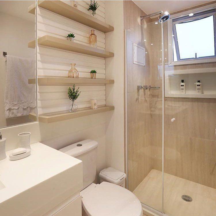 55 banheiros pequenos decorados cheios de estilo casa Pinterest