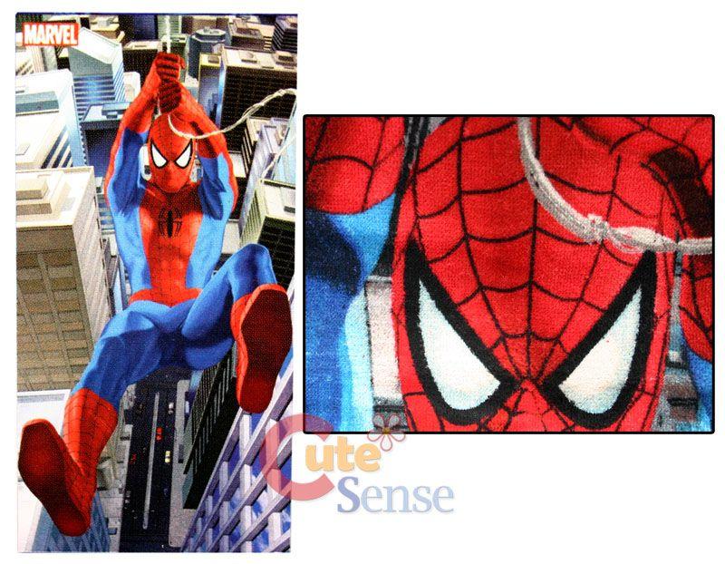 Nice Marvel Spiderman 8pc Bathroom Set W/Cotton Bath Towel