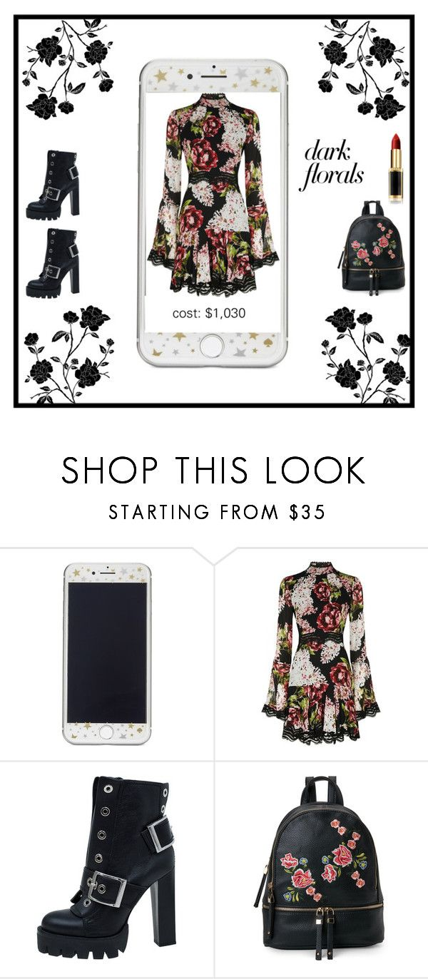 """""""blackbloom."""" by taranbystarlight ❤ liked on Polyvore featuring Kate Spade, Nicholas, Alexander McQueen, Urban Expressions and L'Oréal Paris"""