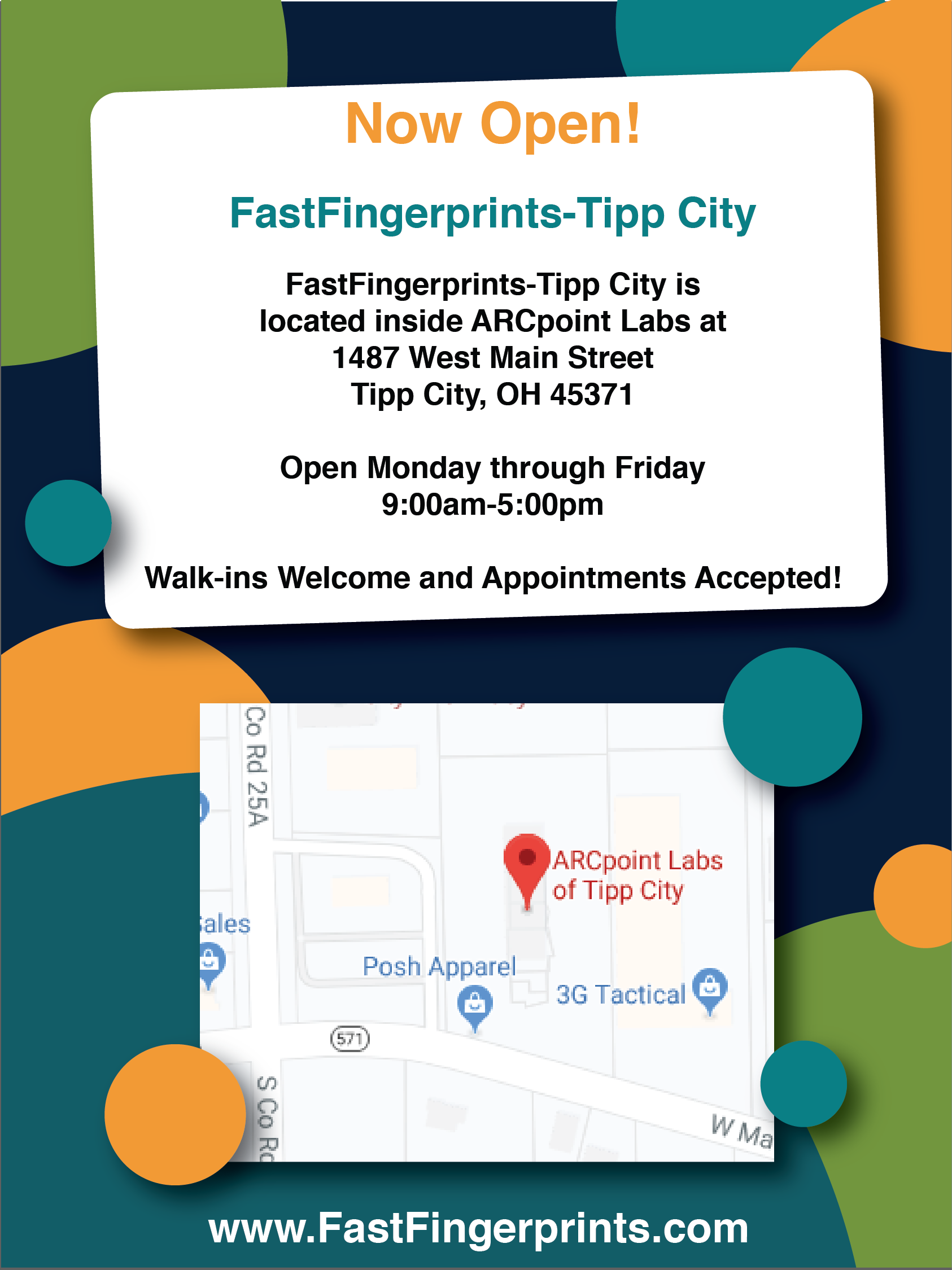 Fingerprint Capture In Tipp City Ohio Live Scan Fingerprinting Background Check Tipp City