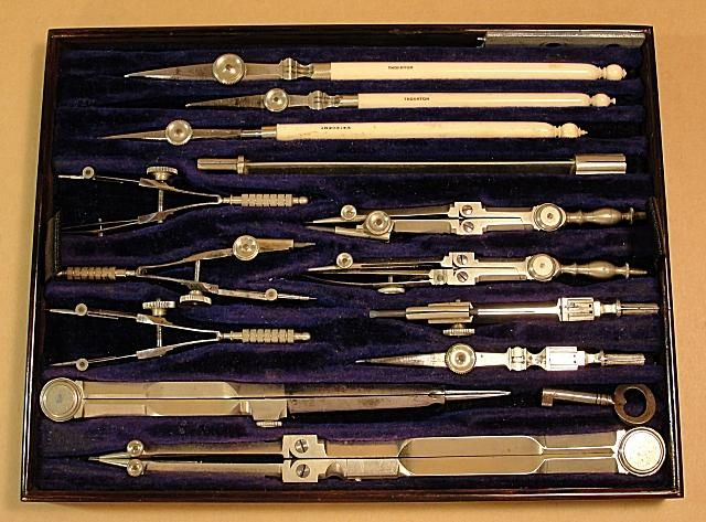 Thornton Drawing Instrument Set Instruments Trays And